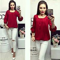 Блуза женская, модель 776, цвет - вишневый, фото 1