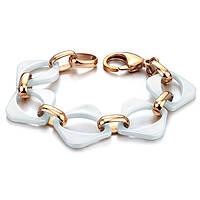 """Позолоченный женский браслет """"Цепной"""" белый, фото 1"""