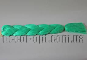 Канекалон однотонный оттенок темно-зеленого 60см(120см)/100гр арт.А24