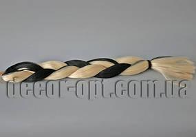 Канекалон двухцветные черно-русые 60см(120см)/100гр арт.1В/613