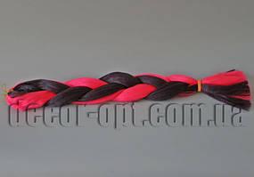 Канекалон двухцветные розово-баклажанные 60см(120см)/100гр арт.850K/PINK