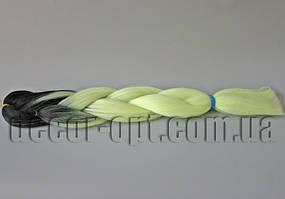 Канекалон омбре черно-мятный 60см(120см)/100гр арт.М9