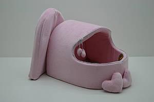 Будка для котов и собак Нежность розовая