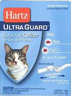 Ошейник Hartz Ultra Guard для кошек от блох и клещей на 7 месяцев, белый