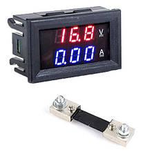 Цифровой амперметр-вольтметр 100В 100А