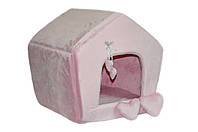 Домик для котов и собак Нежность розовый
