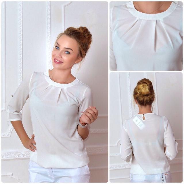 Блуза женская, модель 751, цвет - молоко