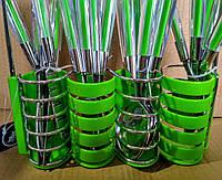 Набор столовых приборов Peterhof PH-22108 A зеленый
