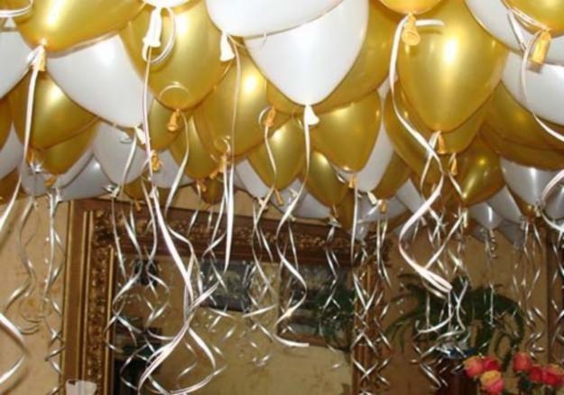 Гелиевые шарики на свадьбу. Гелевые шары.  Николаев.