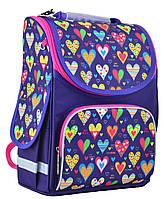 Рюкзак каркасный 1 вересня Smart PG-11 Hearts blue 554438