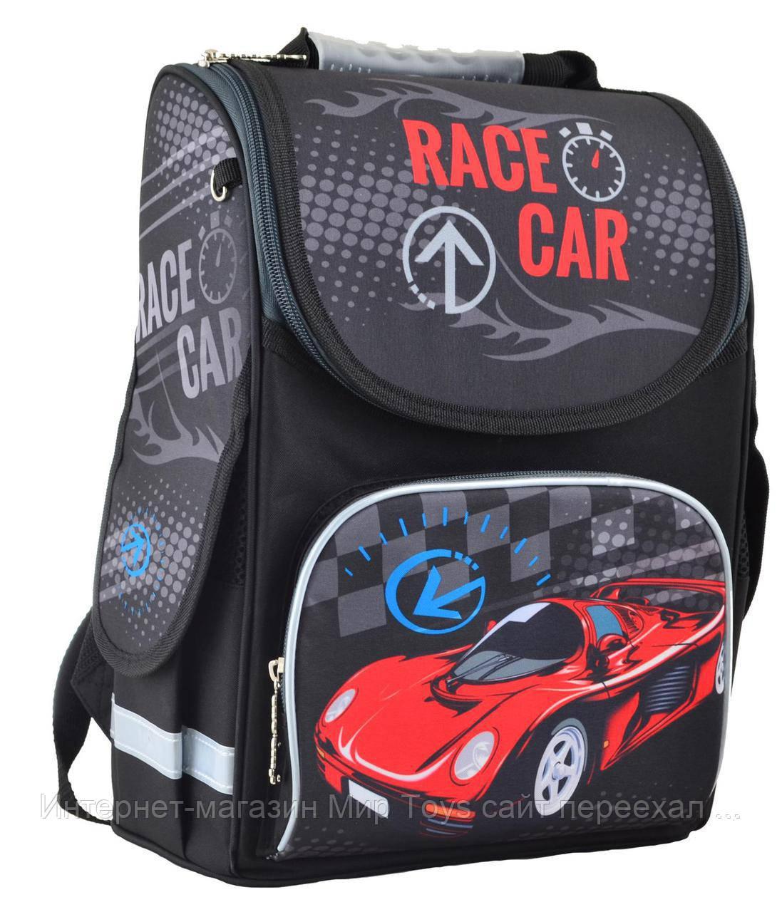 19e4c6f3e8f6 Рюкзак школьный каркасный 1 вересня Smart PG-11 Race car 554513 -  Интернет-магазин