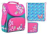 Набор 1 вересня Smart для девочки рюкзак 554445, пенал 531677, сумка 555358