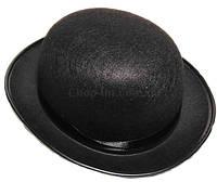 Шляпа - котелок черная