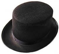 Цилиндр (шляпа) фетр, головной убор