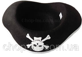 Шляпа-треуголка, шляпа пирата (серебряный ободок), фото 2