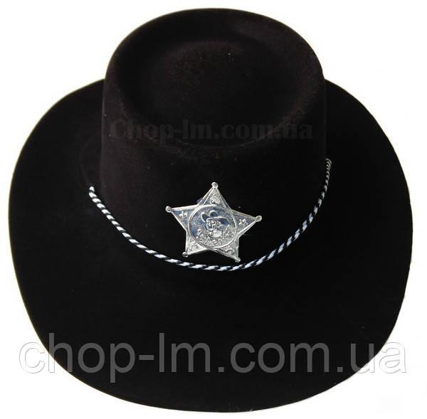 Шляпа Шерифа (черная пластик)