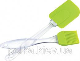 Набор кисточка +лопатка силиконовые