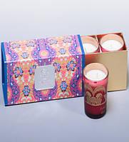 Набор ароматизированных свечей Франжипан и лепестки роз WD-06/ 1