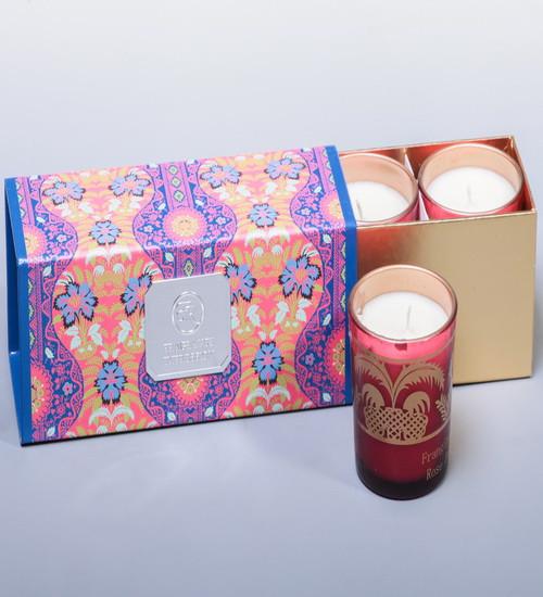 Набор ароматизированных свечей Франжипан и лепестки роз WD-06/ 1 - Интернет-магазин АКБ (подарки и сувениры, декор и посуда) в Киеве