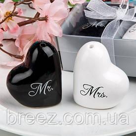 Набор солонка и перечница Мистер и миссис