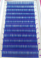 Ресницы синие mix С 0.10 (8-12 мм), фото 1