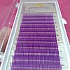 Ресницы фиолетовые mix D 0.07 (8-12 мм)