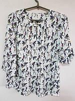 Модная летняя блуза больших размеров в расцветках, размеры 50 - 56