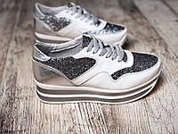 Стильные кроссовки на толстой подошве , фото 1