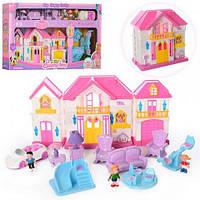 Кукольный домик, дом, мебель, семья, аксессуары, муз, свет, WD-922C-D, WD-922-A-B-E, 006477