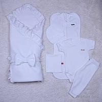 "Летний набор конверт + (5-ти предметник) ""Нежность"" (айвори), фото 1"