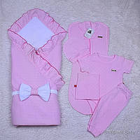 """Летний набор конверт + (5-ти предметник) """"Нежность"""" розовый, фото 1"""