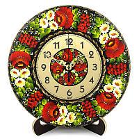 Часы Навьина Роща. Украинский сувенир. Петриковская роспись., фото 1