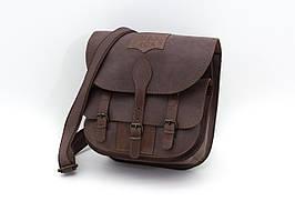 Ягдташ сумка для охоты кожа Ретро коричневый 10500/2