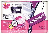 Прокладки женские bella Perfecta Ultra Rose Deo Fresh, 10+10 шт.