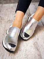 Кожаные кроссовки на резинках , фото 1