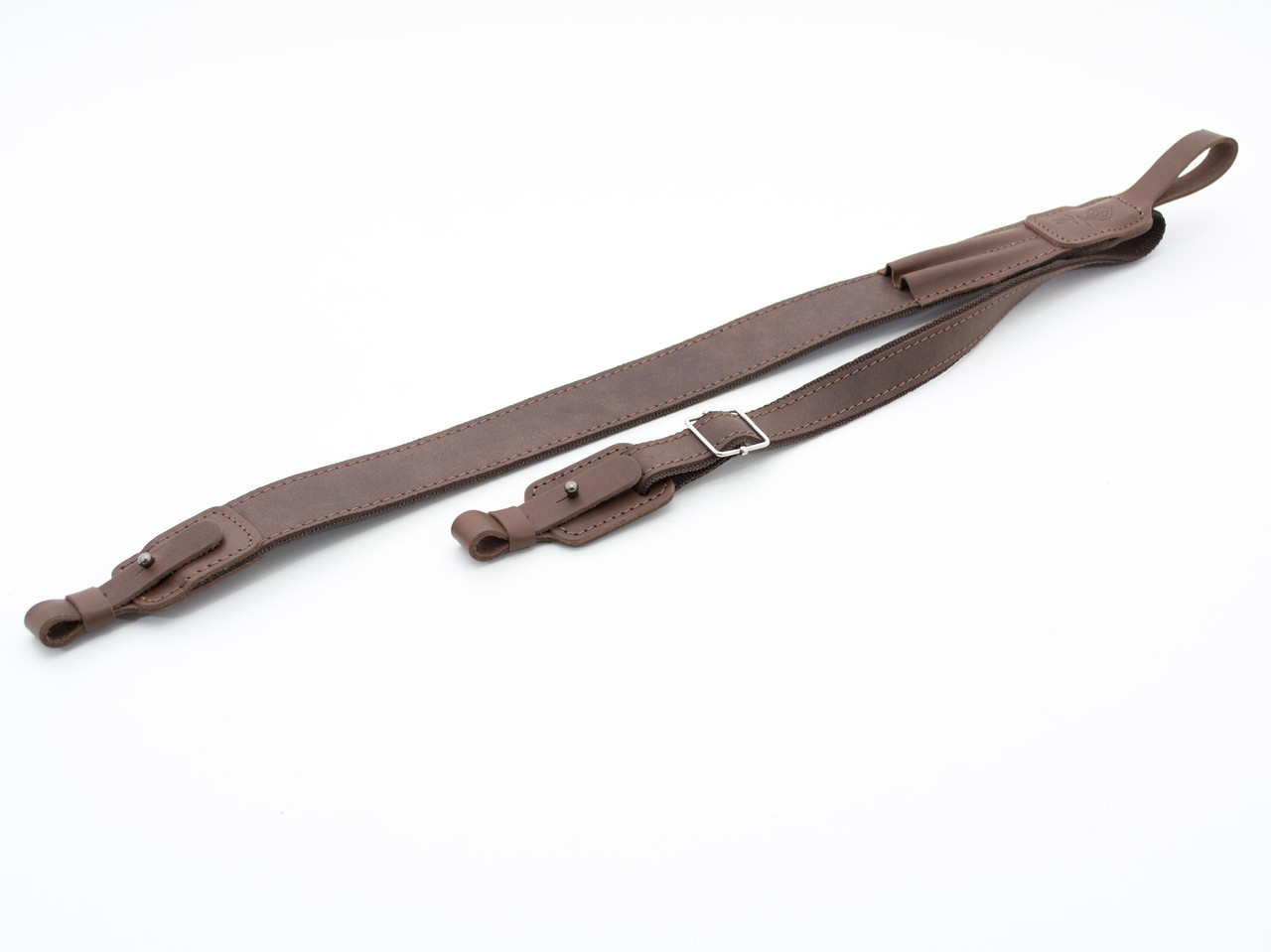 Ремень на ружье с подсумком на 2п. нарезные кожа Ретро коричневый 10108/2