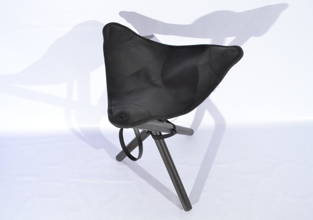 Стул раскладной 65 см кожа Ретро черный 10051/1