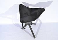 Стул раскладной 65 см кожа Ретро черный 10051/1, фото 1