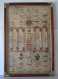 Картина панно морские узлы под стеклом большая 9060 B, 90 см * 60 см, Одесса