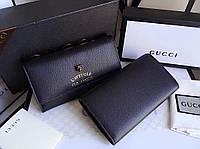 Черный портмоне Gucci