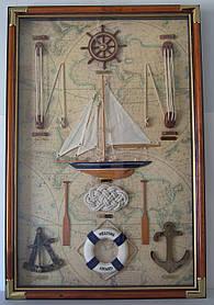 Картина панно морские узлы под стеклом большая 9060 D, 90 см * 60 см, Одесса