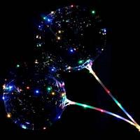Шар светящийся с Led гирляндой на палочке (мульти немигающая 2 батарейки), фото 1