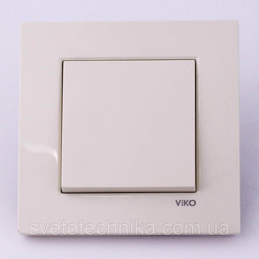 Кнопка звонка (открытие замка)  VI-KO Karre (кремового цвета)
