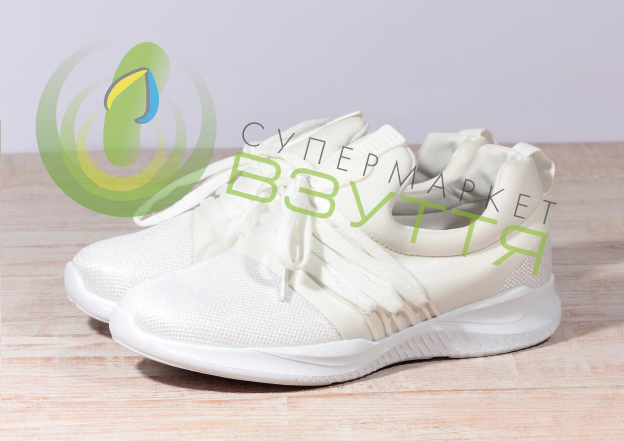 Жіночі кросівки сітка Violetta 20-531 бел 39,40 розміри