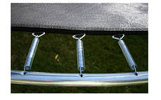 Батути спортивні 435 см. захисна сітка з драбинкою, фото 2