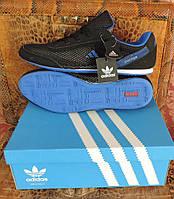 Мужские кроссовки Адидас. Кожаные летние фирменные кроссовки Adidas Daroga. Реплика