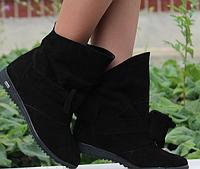 Женские замшевые ботиночки