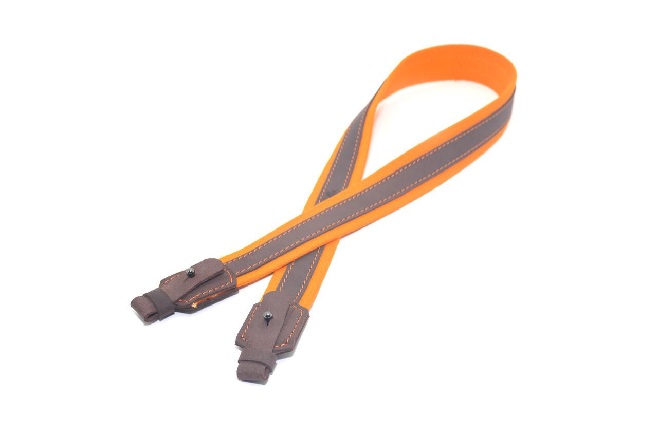 Ремень для ружья брезент оранжевый + кожа Ретро 8203
