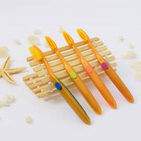 Зубные щетки с бамбуковым угольным напылением - 1шт Корея!