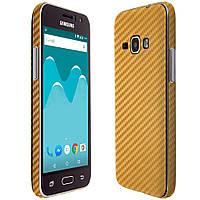 Наклейка карбон золото Samsung G350 ( Самсунг  G350,Защитная пленка, защита для телефонов, кейс, наклейка )